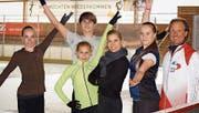 Mitglieder des OEV Kaders mit Denise Biellmann (3. v. rechts). (Bild: PD)