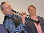 Matthias Mueller und Hanspeter Müller-Drossaart bei ihrem Auftritt in Ermatingen. (Bilder: Margrith Pfister-Kübler)