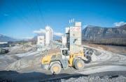 Die Kies und Beton AG Pizol in Bad Ragaz, Entwicklungs- und Herstellungsort des Erdbeton-Bindemittels «Reba 25». (Bild: Urs Bucher)