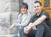 Haben ein gemeinsames Ziel für die Young Winds: Die beiden Präsidenten Verena Cattilaz und Andreas Heinzmann. (Bild: Richa Huber)