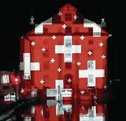 Auf dem Jubiläumsprogramm des Kunstvereins Rorschach stehen unter anderem Lichtprojektionen durch den Lichtkünstler Gerry Hofstetter. (Bild: PD)