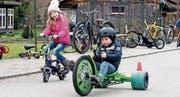 Die Kinder hatten ihren Spass am Veloplausch in Islikon. (Bild: Andreas Taverner)
