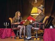 Eveline Ketterer und Tobias Stumpp lesen vor. (Bild: Ursula Gasser)