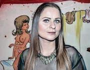 Friseuse Sandra Berger servierte einen Monat lang an der Hinterthurgauer Beizenfasnacht. (Bild: Kurt Lichtensteiger)