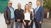Der Vorstand ad interim der FDP AI: Josef Holderegger, Stefan Millius, Livia Wyss, David Zimmermann, Gido Karges. (Bild: PD)