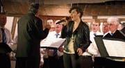 Ein Solo von Geraldine Sprenger an der Abendunterhaltung des Männerchors zum Lied «Mama Loo». (Bild: Andreas Taverner)