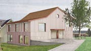 Ein neuer Kindergarten für Zihlschlacht: «Caro», das siegreiche Projekt, ist ein Werk des Architekten Lukas Imhof. (Bild: PD)