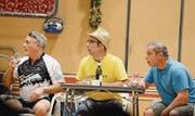 Wenn sich da die Camper Armin, Stefan und Markus nur nicht vergucken! (Bilder: Hansruedi Rohrer)