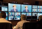 Kritiker werfen den öffentlich-rechtlichen Anstalten in Deutschland zu viel «Staatsnähe» vor. (Bild: Herby Sachs/AP (Berlin, 3. September 2017))