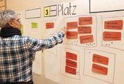 Am meisten Punkte bekam am Workshop die Variante Dorfplatz zugesprochen. (Bild: Christof Lampart)
