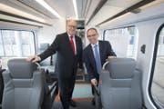 Modernisierer der Appenzeller Bahnen: Verwaltungsratspräsident Fredy Brunner (l.) und Direktor Thomas Baumgartner.