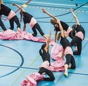 Gruppe 7 der Gymnastikgruppe Kreuzlingen gibt am Gym-Cup ihr Bestes. (Bild: Reto Martin (Kreuzlingen, 28. Oktober 2017))