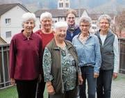 Ehemaliger und neuer Vorstand des Frauenvereins. (Bild: PD)