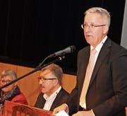 Gemeindepräsident Max Soller bei der Präsentation des Budgets für das laufende Jahr. (Bild: Christof Lampart)