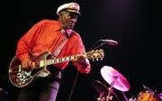 Chuck Berry während eines Konzerts in Zürich 2008. (Bild: WALTER BIERI (KEYSTONE))