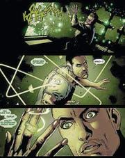Der Superheld Simon Baz erhält seinen Ring nach einem Fluchtversuch aus der Folterhaft. (Bild: pd)