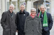 Die Einnahmenseite des Kantons im Visier: Toni Kappeler, Joe Brägger, Brigitta Hartmann und Kurt Egger. (Bild: Donato Caspari)