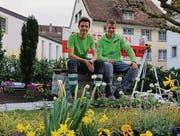 Das Siegerteam mit Thomas Signer (links) und Roman Schweizer. (Bild: pd)
