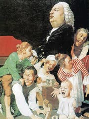 Einen humorvollen Blick auf die Familie Bach wirft 1975 Johannes Grützke in «Bach, von seinen Kindern gestört».