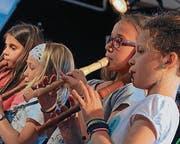 Sie machten den Anfang des Musiktages: Die Flötistinnen. (Bild: Rudolf Steiner)