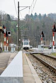Für einen Viertelstundentakt benötigt die Frauenfeld–Wil-Bahn drei Kreuzungsstellen. Hier in Lüdem, zwischen Frauenfeld und Matzingen, soll mit deren Bau im Herbst 2018 begonnen werden. (Bild: Donato Caspari)