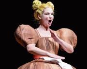 Nicole Bosshard ist in der Tonhalle Wil als Marie, die Regimentstochter, zu sehen. (Bild: Carola Nadler)