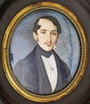Daniel Wirth-Sand, gemalt als junger Mann um etwa 1840 – und fotografiert als stolzer Greis. (Bild: Historisches und Völkerkundemuseum St. Gallen)
