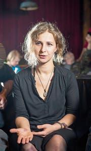 Pussy-Riot-Mitglied Maria Alyokhina im Theaterhaus Gessnerallee Zürich. (Bild: Urs Bucher (Zürich, 15. März 2018))