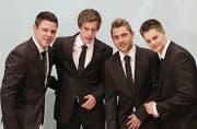 Cousins vereint bei den Seerugge-Feger: Tobias Manser, Fabian Manser, Sandro Holenstein und Philipp Manser. (Bild: PD)