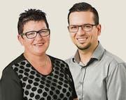 Uschi Menzi und Vlada de Carvalho gehen für die SVP Rorschacherberg in die kommunalen Wahlen im Herbst. (Bild: zVg)