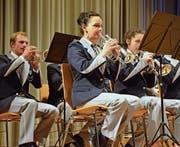 Die Musikgesellschaft Concordia Fischingen spielte gross auf. (Bilder: Christoph Heer)