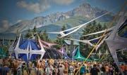 Das «Summer Never Ends»-Festival im bündnerischen Rona ist eine der grössten Goa-Parties Europas. (Bild: pd)