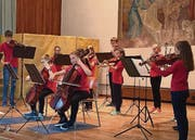 Mit Feingefühl musizieren Kinder der Jugendmusikschule Amriswil. (Bild: pd)