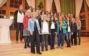 Frauen stehen gemeinsam ein für mehr weibliche Kantonsräte. (Bild: Lukas Gerzner)