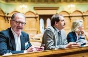 Das gibt es bald nicht mehr zu sehen: Hermann Hess im Nationalratssaal. (Bild: Dominic Steinmann/KEY (Bern, 20. November 2015))