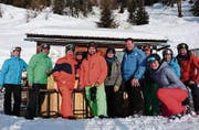 Gruppenbild des STV Salez-Haag in Skianzügen. (Bild: PD)