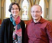 Beate und Jörg Drafehn freuen sich sehr an der Anstellung als Pfarrer in der Evangelischen Kirchgemeinde Sevelen. (Bild: Hansruedi Rohrer)