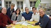 Das OK ist bereits in bester Stimmung (von links): Olaf Sommer, Monika Fontanesi, Irene Füllemann, Stefan Grötzinger, Christof Lampart (nicht mehr im OK) und Stefan Keller. (Bild: Marco Cappellari)