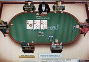 Screenshot von einem Onlinepokerturnier. Solche Onlinespiele wollen bald auch Schweizer Casinos im Netz anbieten. (Bild: Alamy Stock Photos)