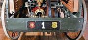 Die ersten Thurgauer Kennzeichen sahen vermutlich so aus: Schwarz, gemalte Wappen und gestanzte Nummer. Das Kennzeichen wurde laut Vereinsprotokoll 1947 gefertigt. (Bild: Reto Martin)