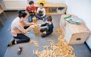 In Kindertagesstätten arbeitet im Durchschnitt 40 bis 50 Prozent ungelerntes Personal. (Bild: Urs Bucher)