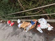 Am Bahnhof Rorschach Stadt bleibt immer wieder Abfall liegen. (Bild: Andreas Grüninger/Facebook)
