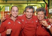 Nicole von Känel, Ostermundigen, Markus Schweizer und Christina Nigg, beide aus Thun. (Bilder: Chris Marty)