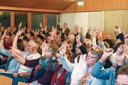Die 40. Gemeindeversammlung der Einheitsgemeinde verlief ohne Querelen und lange Diskussionen. (Bild: Thomas Güntert)