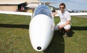 Der junge Segelpilot Jonas Langenegger aus Schweizersholz vor dem Start zu seinem ersten Wettkampf. (Bild: Christof Lampart)