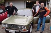 Fans alter Fahrzeuge: Christoph Beerli, Victor Haag und Franz Zaugg. (Bild: Salome Preiswerk Guhl)