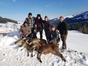 Erfolgreiche Jäger im Kanton Appenzell Innerrhoden. (Bild: pd)