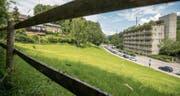 Gewerbliches Berufs- und Weiterbildungszentrum St. Gallen (GBS) im Tal der Demut oberhalb der Stadt St. Gallen. (Bild: Urs Bucher (St. Gallen, 19. Juni 2014))