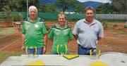 Podest am Chugele-Cup und im Swiss Cup: Hans Hardegger, Peter Müntener und Res Ramseyer (von links). (Bild: pd)
