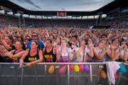 Ein Mega-Anlass: 27'000 Menschen fluteten am Freitagabend den Kybunpark für das Konzert von Andreas Gabalier. (Bild: Urs Bucher)